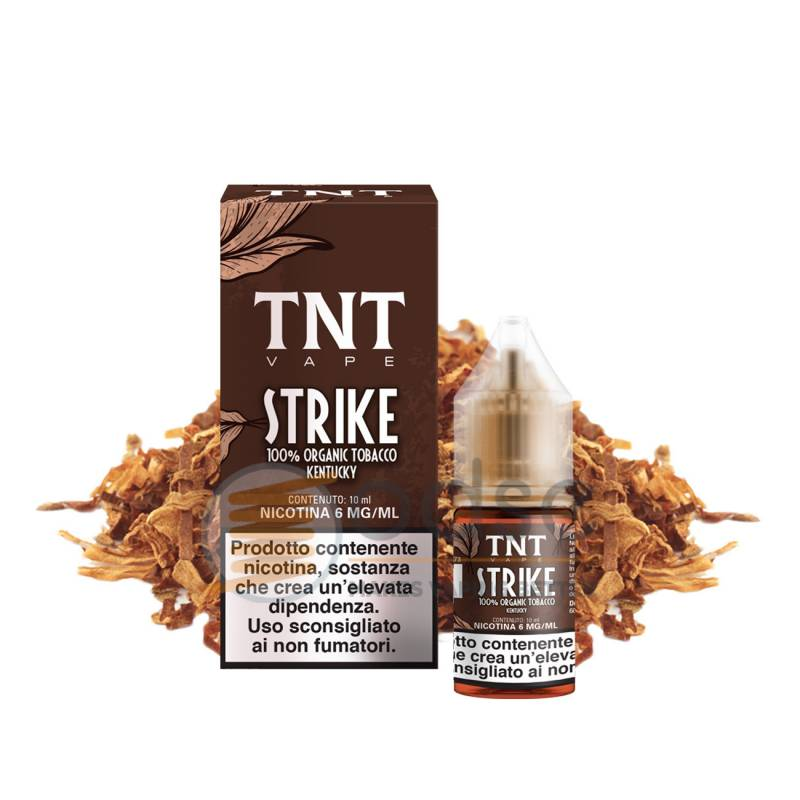STRIKE LIQUIDO TOTAL NATURAL TOBACCO TNT VAPE 10 ML - Tabaccosi
