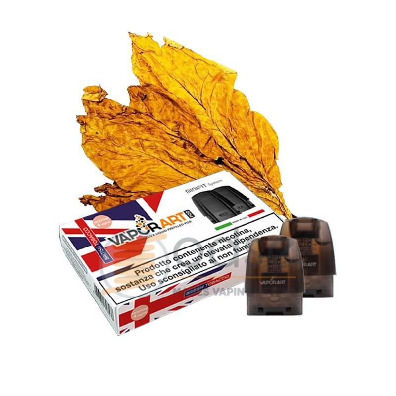 BRITISH TOBACCO MINIFIT POD VAPORART RESISTENZA JUSTFOG PRECARICATA - Tabaccosi