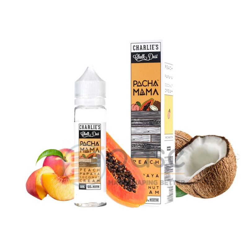 PEACH PAPAYA COCONUT CREAM PREMIX PACHAMAMA - Mix'n'Vape