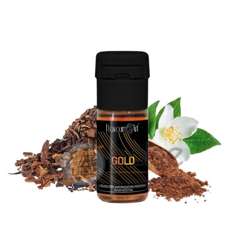 GOLD BY FEDEZ LIQUIDO FLAVOURART 10 ML - Tabaccosi