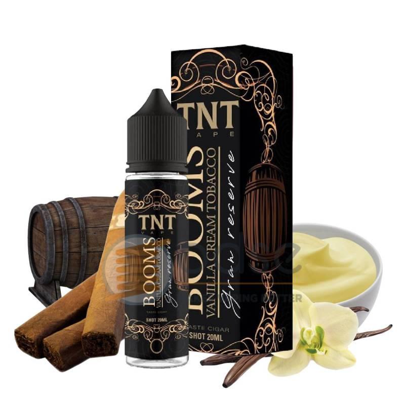 BOOMS VANILLA CREAM TOBACCO GRAN RESERVE SHOT TNT VAPE - Tabaccosi